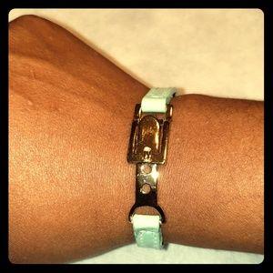 💙Light aqua blue band bracelet